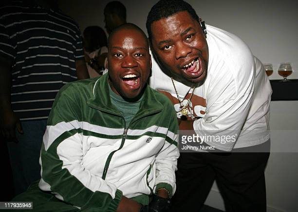 Daryl 'Chill' Mitchell and Biz Markie during The House of Courvoisier 2006 NBA AllStar Weekend Celebration February 16 2006 at Visions in Houston...