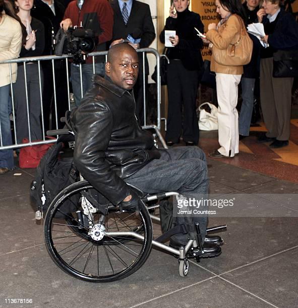Daryl Chill Mitchell arrives at the Memorial for Dana Reeve at the New Amsterdam Theatre on March 10 2006 in New York City Dana Reeve wife of the...