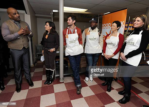 Daryl Foriest Silvia Davi Gabriele Corcos Curtis Jackson Ellie Krieger and Savannah Guthrie attend Feeding America Hosts BiCoastal Celebrity...
