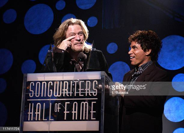 Daryl Hall and John Oates during 35th Annual Songwriters Hall of Fame Awards Induction Show at Marriott Marquis Hotel in New York City New York...
