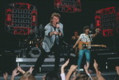 Daryl Hall and John Oates of Hall Oates perform live on stage 1984