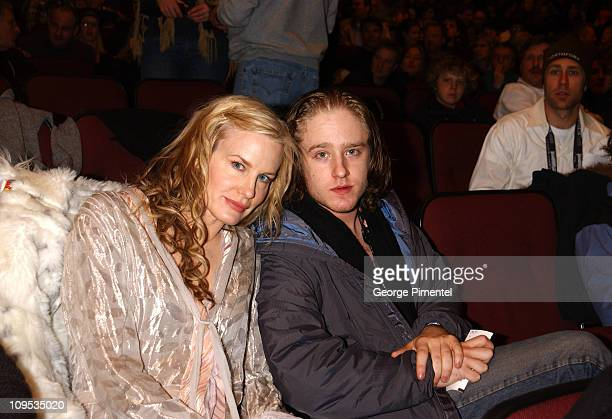 Daryl Hannah and Ben Hicks during 2003 Sundance Film Festival 'Northfork' Premiere at Eccles in Park City Utah United States