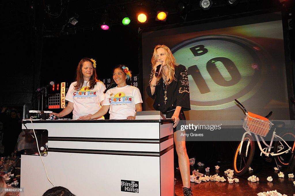 Daryl Hannah calls bingo at Bingo At The Roxy to Benefit The Painted Turtle at The Roxy Theatre on October 10, 2013 in West Hollywood, California.