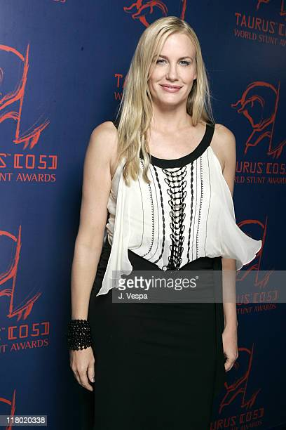 Daryl Hannah during 2005 Taurus World Stunt Awards Backstage at Paramount Studios in Los Angeles California United States