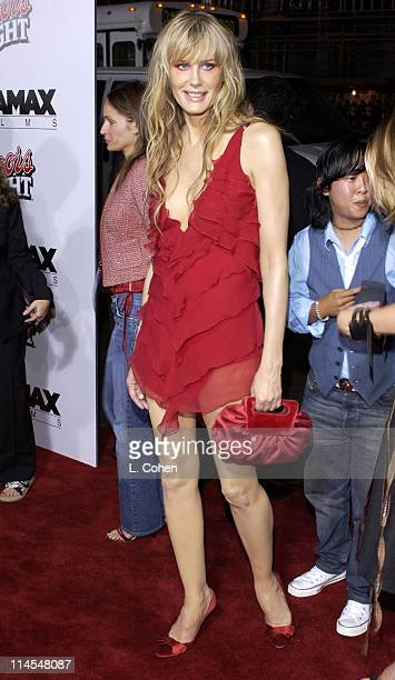 Daryl Hannah during 'Kill Bill Vol 1' Premiere Red Carpet at Grauman's Chinese Theater in Hollywood California United States