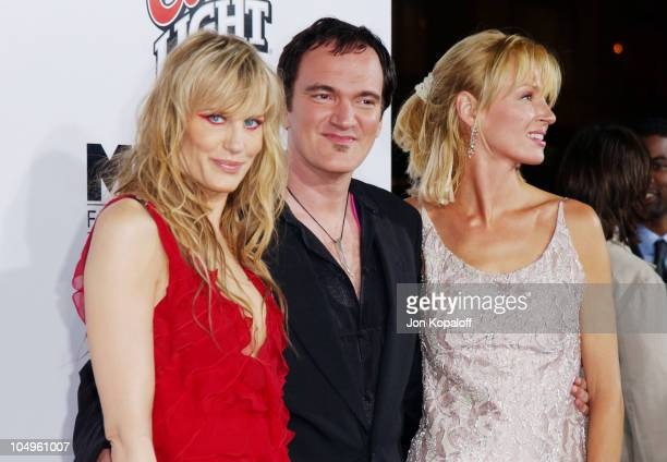 Daryl Hannah Quentin Tarantino and Uma Thurman during 'Kill Bill Vol1' Hollywood Premiere at Grauman's Chinese Theater in Hollywood California United...