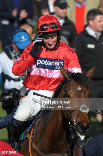 Daryl Jacob on Lac Fontana after winning the Vincent O'Brien handicap Hurdle Race during Cheltenham Gold Cup Day at Cheltenham Racecourse Cheltenham