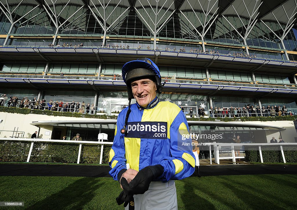 Daryl Jacob poses at Ascot racecourse on November 23, 2012 in Ascot, England.