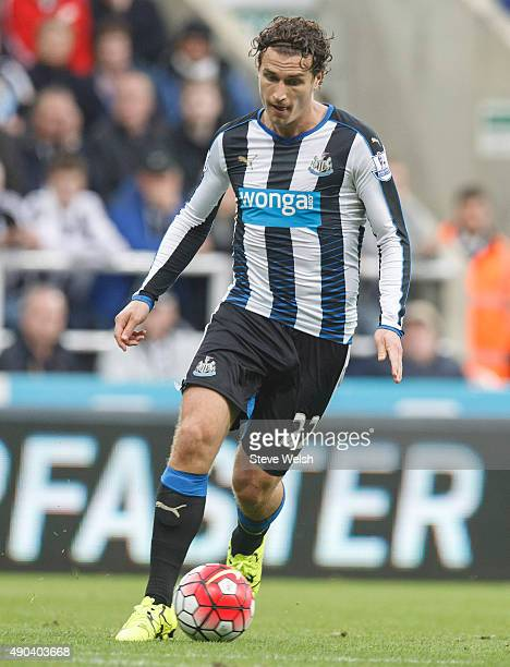 Daryl Janmaat in action for Newcastle United during the Barclays Premier League match between Newcastle United and Chelsea at St James's Park Park on...