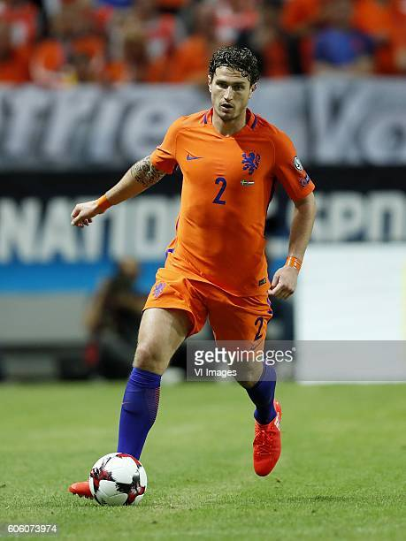 Daryl Janmaat of Holland during the FIFA World Cup 2018 qualifying match between Sweden and Netherlands on September 6 2016 at the Friends Arena in...