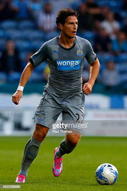 Daryl Janmaat of Newcastle in action during the Pre Season Friendly match between Huddersfield Town and Newcastle United at the John Smith's Stadium...