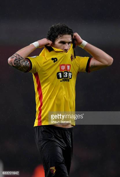 Daryl Janmaat of Watford is seen after the Premier League match between Arsenal and Watford at Emirates Stadium on January 31 2017 in London England