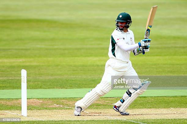 Daryl Mitchell of Hampshire hits out during Day 2 of the LV County Championship Division One match between Hampshire and Worcestershire at Ageas Bowl...