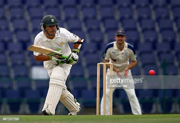 Daryl Mitchell of Marylebone Cricket Club bats during the Champion County match between Marylebone Cricket Club and Yorkshire at Sheikh Zayed Stadium...