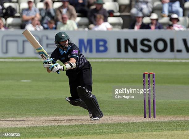 Daryl Mitchell of Worcestershire bats during of the Royal London OneDay Cup match between Worcestershire and Yorkshire at New Road on July 30 2015 in...