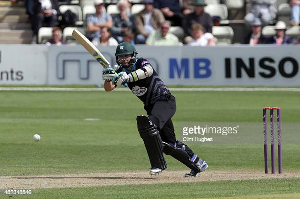 Daryl Mitchell of Worcestershire bats during the Royal London OneDay Cup match between Worcestershire and Yorkshire at New Road on July 30 2015 in...