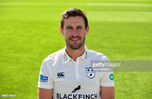 Daryl Mitchell of Worcestershire County Cricket Club poses in the Specsavers County Championship kit during the Worcestershire County Cricket...