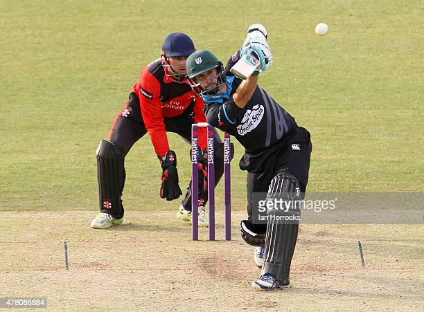 Daryl Mitchell of Worcestershire during the NatWest T20 Blast match between Durham Jets and Worcestershire Rapids at The Emirates Durham ICG on June...