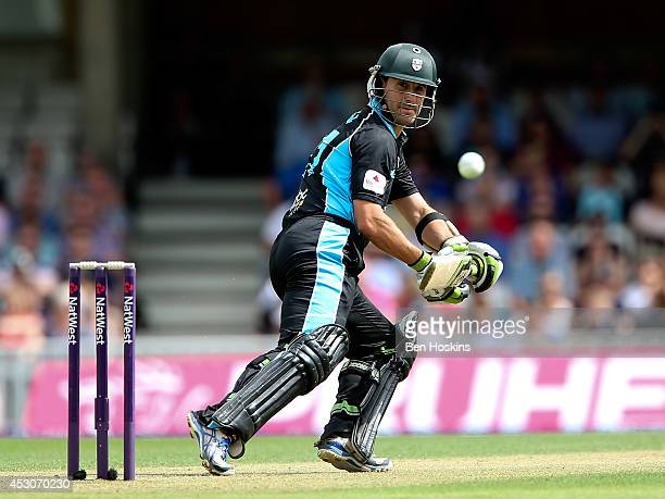 Daryl Mitchell of Worcestershire in action during the Natwest T20 Blast Quarter Final match between Surrey and Worcestershire Rapids at The Kia Oval...
