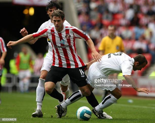 Daryl Murphy battles with Alessdandro Birindelli during a friendly match between Sunderland and Juventus at The Stadium Of Light PRESS ASSOCIATION...