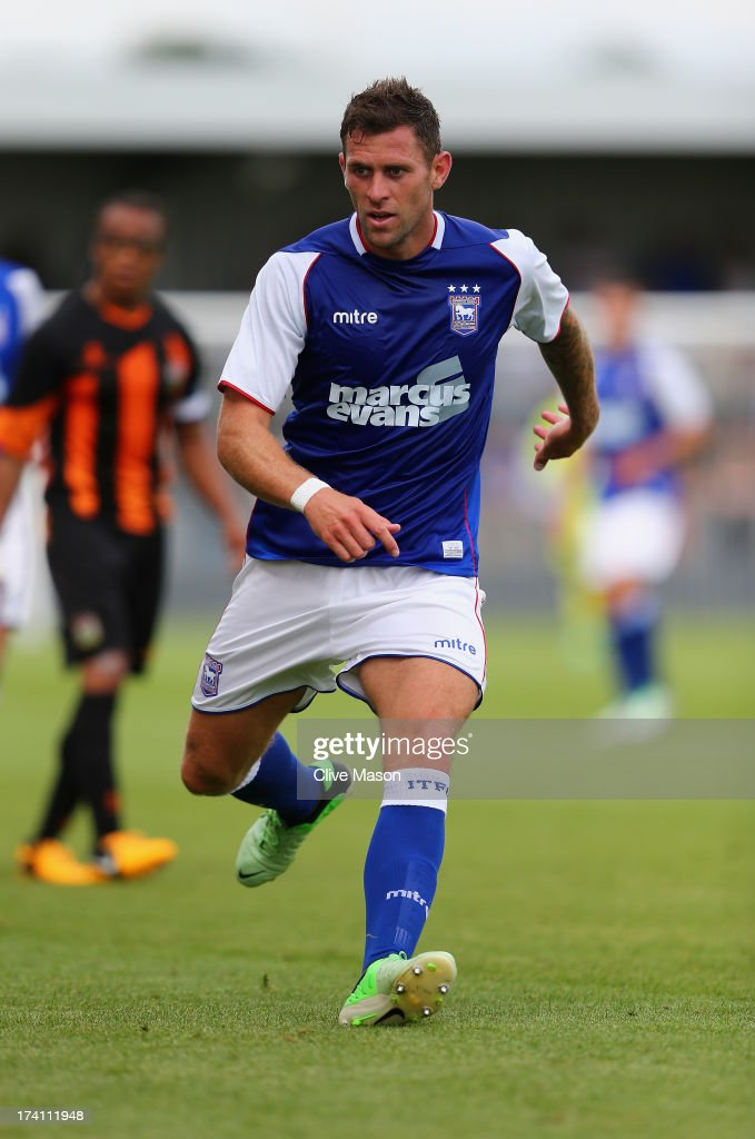 Daryl Murphy of Ipswich Town in action during the pre season friendly match between Barnet and Ipswich Town at The Hive on July 20, 2013 in Barnet, England.