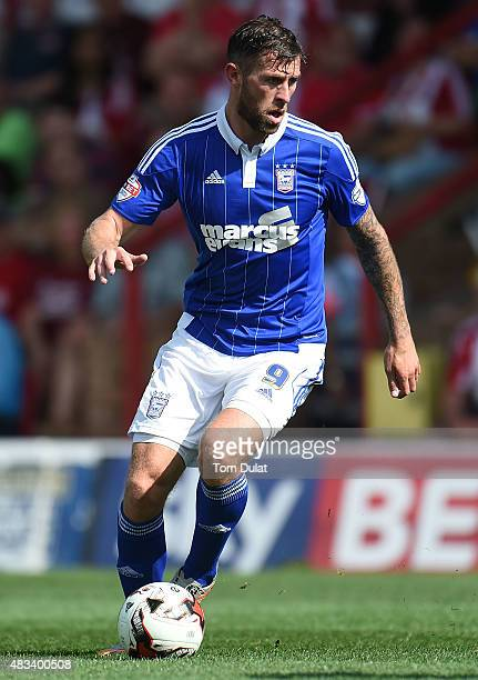 Daryl Murphy of Ipswich Town in action during the Sky Bet Championship match between Brentford and Ipswich Town at Griffin Park on August 8 2015 in...