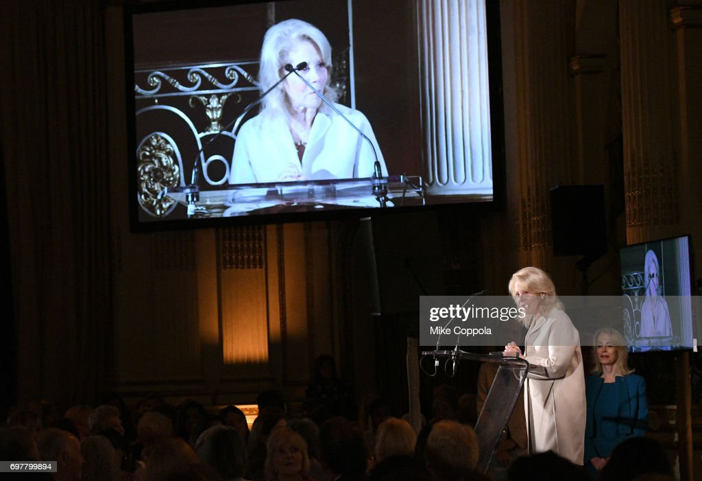 Daryl Roth recieves an award onstage at The 7th Annual Elly Awards at The Plaza Hotel on June 19, 2017 in New York City.