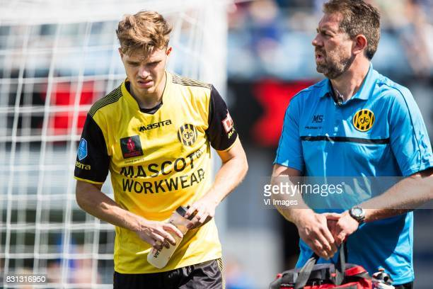 Daryl Werker of Roda JC caretaker Michel Somers of Roda JC during the Dutch Eredivisie match between PEC Zwolle and Roda JC at the MAC3Park stadium...