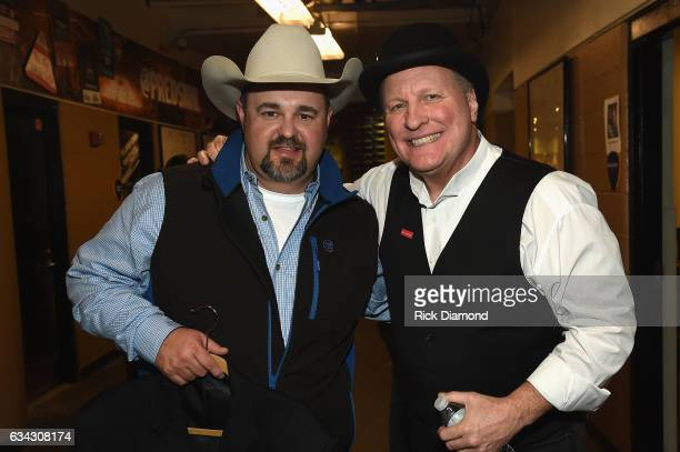 Daryle Singletary and Collin Raye perform during 1 Night 1 Place 1 Time A Heroes Friends Tribute to Randy Travis at Bridgestone Arena on February 8...