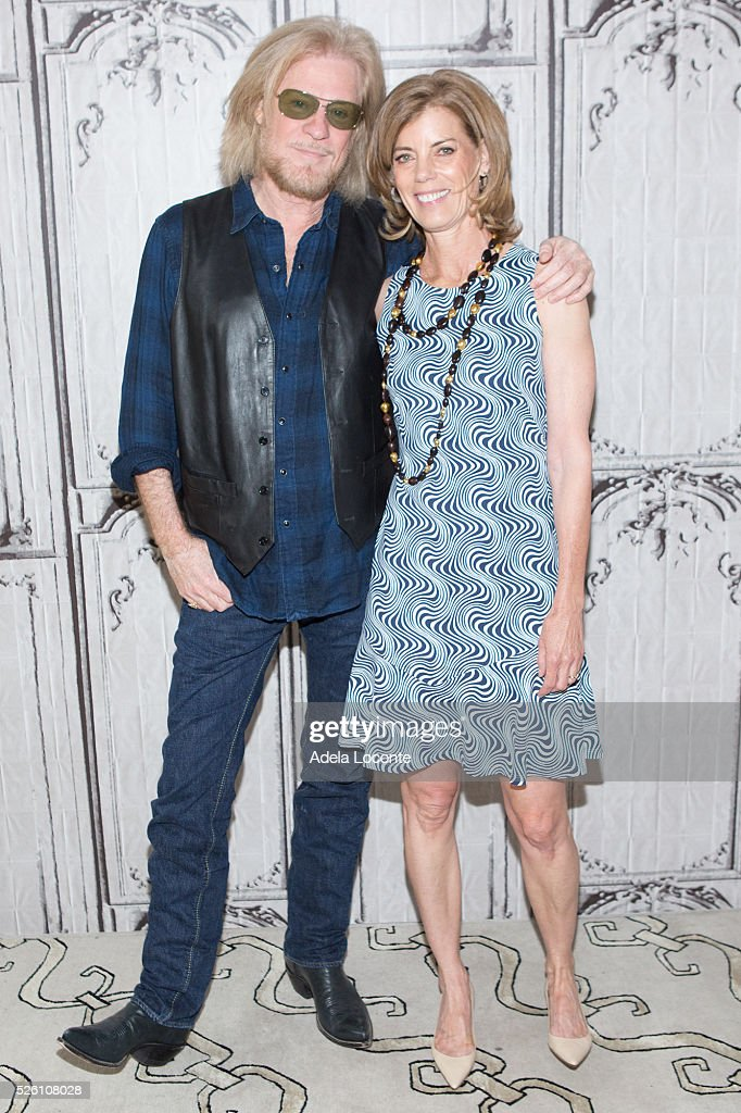 Daryll Hall and Suzane Pollak attend at AOL Studios In New York on April 29, 2016 in New York City.