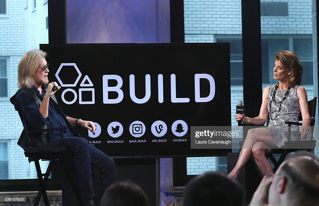 Daryll Hall and Suzanne Pollak attend AOL Build Speaker Series at AOL Studios In New York on April 29, 2016 in New York City.