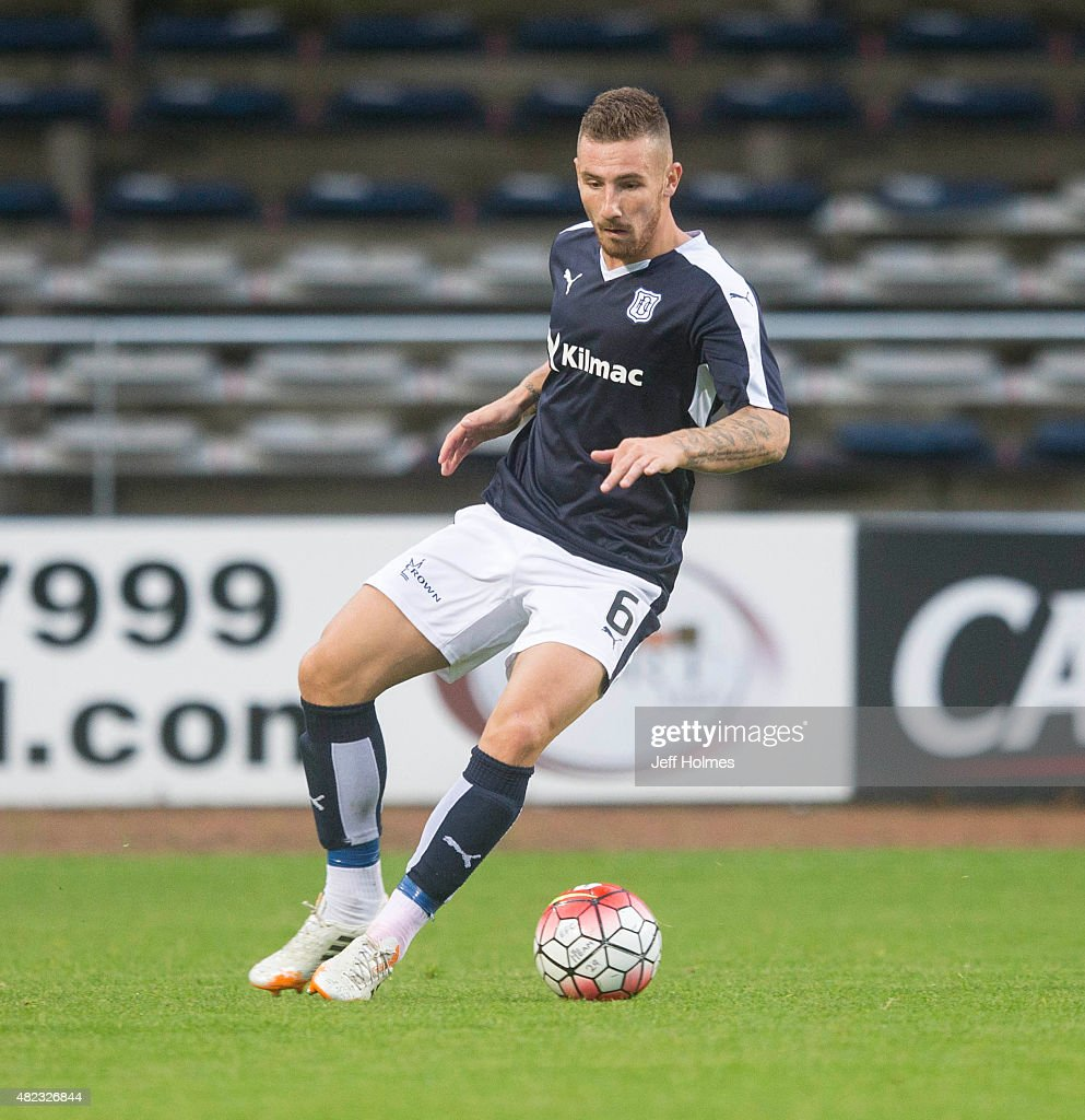 Daryll Meggatt for Dundee at the Pre Season Friendly between Dundee and Everton at Dens Park on July 28th, 2015 in Dundee, Scotland.
