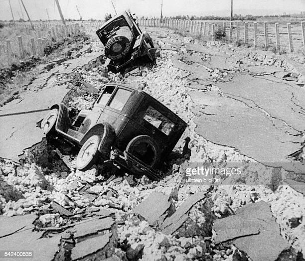 Das Erdbeben auf der Nordinsel im Jahre1931Zerstörungen in der Umgebung von Napier
