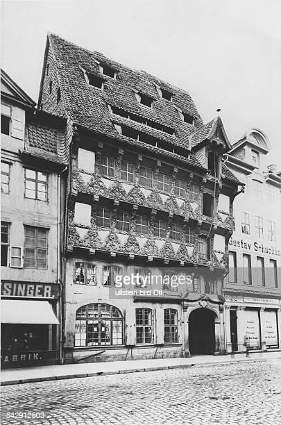 Das Huneborstel Haus an seinem ursprünglichen Standort 'im Sack' 1893