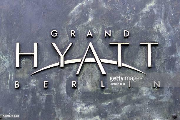 Das Logo des Grand Hyatt Hotels in Berlin
