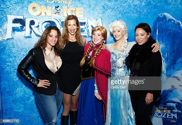 Dascha Polanco Alysia Reiner Princess Anna Queen Elsa and Selinis Levya attend Disney On Ice presents Frozen at Barclays Center on November 11 2014...