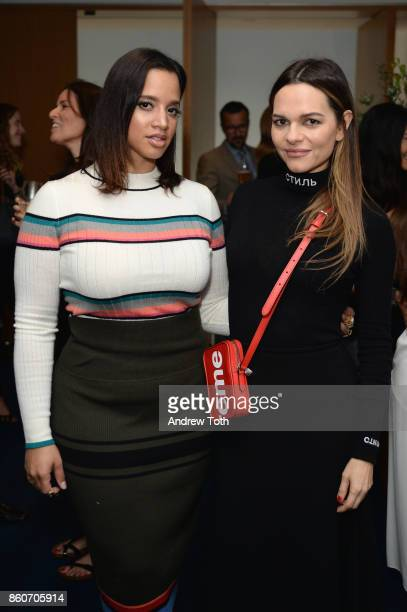 Dascha Polanco and Maria Hatzistefanis attend as Harper's BAZAAR and THE OUTNETCOM Celebrate the opening of MoMA's Fashion Exhibit 'Is Fashion...