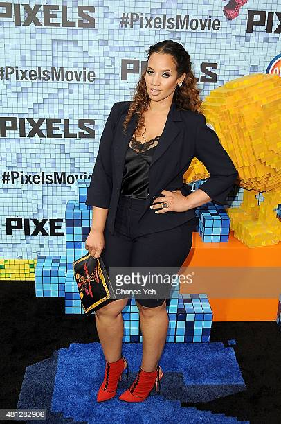Dascha Polanco attends 'Pixels' New York premiere at Regal EWalk on July 18 2015 in New York City