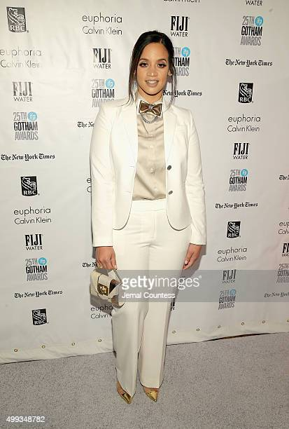 Dascha Polanco attends the 25th IFP Gotham Independent Film Awards cosponsored by FIJI Water at Cipriani Wall Street on November 30 2015 in New York...