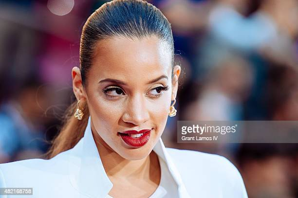 Dascha Polanco attends the 'Mission Impossible Rogue Nation' New York Premiere at Duffy Square in Times Square on July 27 2015 in New York City