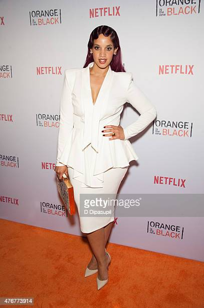 Dascha Polanco attends the 'Orangecon' Fan Event at Skylight Clarkson SQ on June 11 2015 in New York City