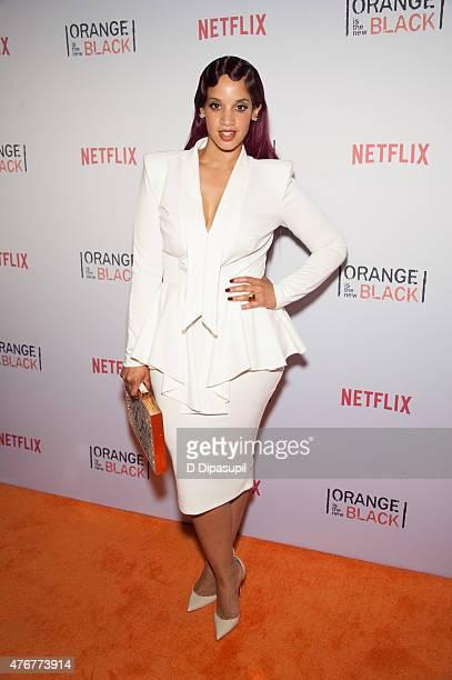Dascha Polanco attends the 'Orangecon' Fan Event at Skylight Clarkson SQ on June 11 2015 in New York City