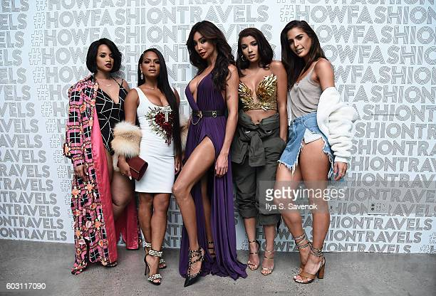 Dascha Polanco Christina Milian Yasmine Petty Yovanna Ventura and Carmen Carrera attend the Lexus Lounge At MADE New York Day 5 at Milk Studios on...