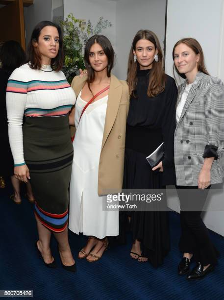 Dascha Polanco Faryn Weiner Amanda Alagem and Mallory Schlau attend as Harper's BAZAAR and THE OUTNETCOM Celebrate the opening of MoMA's Fashion...