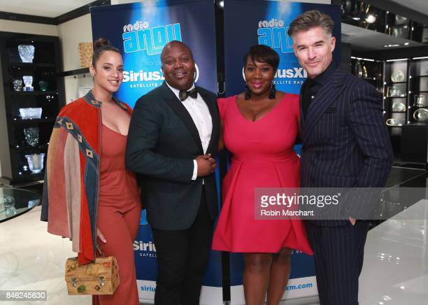 Dascha Polanco Titus Burgess SiriusXM Host Bevy Smith and Eric Rutherford attend A Radio Special Celebrating The Anniversary Of Andy Cohen's SiriusXM...