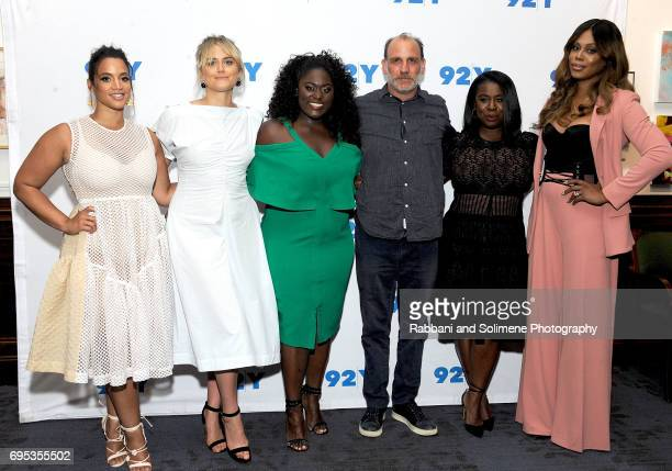 Dascha PolancoTaylor SchillingDanielle BrooksNick SandowUzo AdubaLaverne Cox attend 92Y presents 'Orange is the New Black' season five debut...