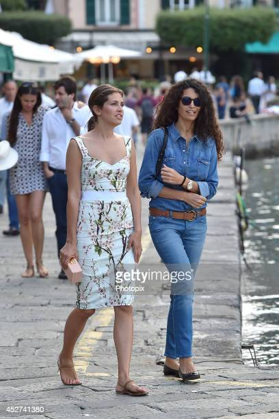 Dasha Zhukova and Afef Jnifen are seen on July 26 2014 in Portofino Italy