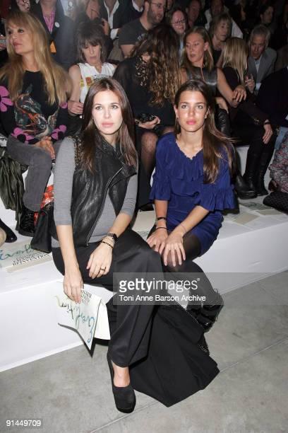 Dasha Zhukova and Charlotte Casiraghi attend the Stella McCartney Pret a Porter show as part of the Paris Womenswear Fashion Week Spring/Summer 2010...