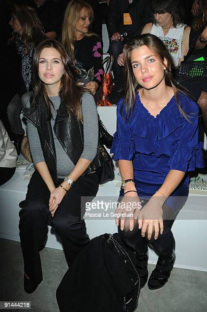 Dasha Zhukova and Charlotte Casiraghi attends the Stella McCartney Pret a Porter show as part of the Paris Womenswear Fashion Week Spring/Summer 2010...