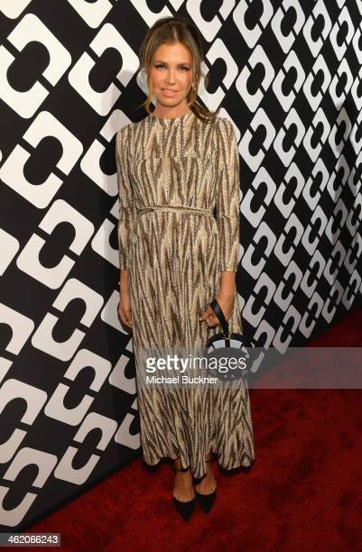 Dasha Zhukova attends Diane Von Furstenberg's Journey of A Dress Exhibition Opening Celebration at May Company Building at LACMA West on January 10...